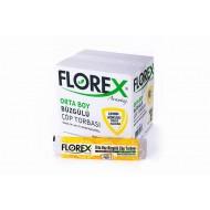 FLOREX Limon Kokulu Büzgülü Orta Boy Çöp Torbası