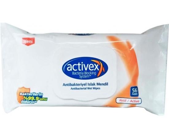 Activex Antibakteriyel Islak Mendil 56 Lı Aktif
