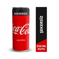 Coca-Cola Şekersiz 250 Ml Kutu